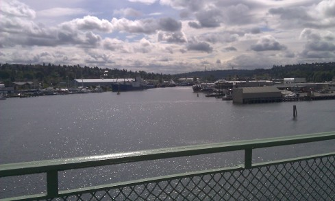 Almost dropped my phone off the Ballard Bridge taking this, so you all better appreciate it.