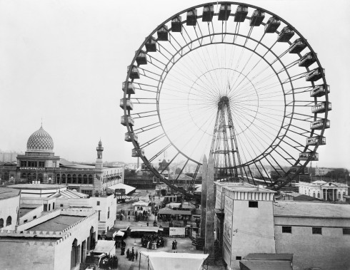 The great Ferris Wheel  towers over the White City. In just a single week, tickets to ride the wheel made over $400,00 in today's equivalent. (Image from explorepahistory.com)