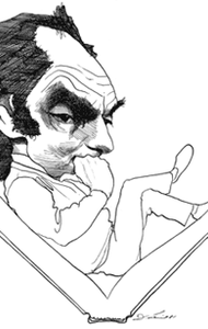 Famous New York Books contributor David Levine published this depiction of Calvino on June 25, 1981.