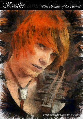 Apparently, Kvothe has been adopted by the emo-tortured-musician scene. (Art by thephoenixprod)