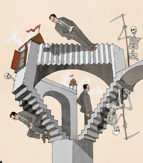 """Escher vibed Italo Calvino"" from Debut Art."