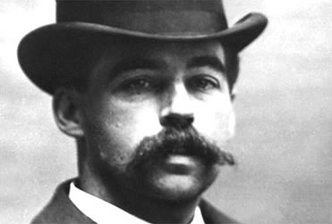 The man himself: H.H. Holmes. To look at him, you wouldn't suspect him, but that was the point.