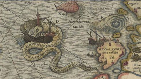 "Among the fantastical animals are ""krakens."" Not the giant squids we're used to seeing in fantasy depictions, but more like massive sea snakes that plague the oceans between Anglica and Bharata."