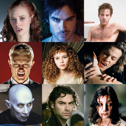 Vampires are all the rage nowadays, but Bram did it first. I haven't read Anne Rice or Stephenie Meyer or Charlaine Harris. If any of you have, let me know how they stack up against Dracula. (Pic from sfx.co.uk)