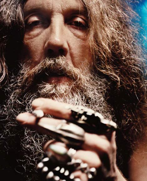 Alan Moore is famous for V for Vendetta and Watchmen, his work with DC's Batman. He identifies as an anarchist, a ceremonial magician, a father, a writer