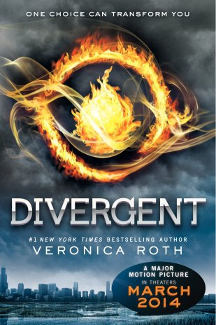 Check out the non-movie cover version of Divergent by Veronica Roth. You only have four days to buy, receive, and read the book before the movie spoils the ending for you.