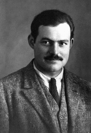 I'm used to seeing Hemingway as the grizzled, bearded man shooting fish with a machine gun from his boat, but he wrote TSAR when he was only 27, a young journalist in Paris with his whole, epic career in front of him.