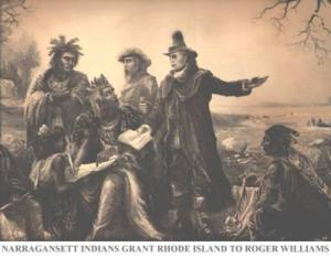 """It was not price nor money that could have purchased Rhode Island ... Rhode Island was purchased by love."""