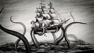 "The Kraken holds a place in many cultures' mythologies. In DitM, it is the ""Dissolver,"" the greater-than-gods, and the key to Lief's true identity."