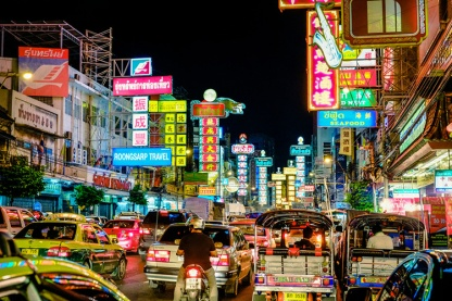 Bacigalupi's Bangkok is vastly different than the bright, bustling modern version we're familiar with. Replace all the cars with fascist government officials and all the lights with infectious diseases.