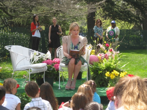 I love that the same author who can sit primly in wedge heels reading to kids in a garden can also write about grotesque murder and psychopathic sexual angst.
